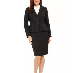 ⭐Le Suit Set NWT! Pleated Blazer Jacket Skirt 10P